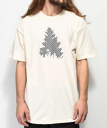 Casual Industrees Johnny Checkers Cream T-Shirt