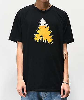Casual Industrees Johnny Tree Beer Black T-Shirt
