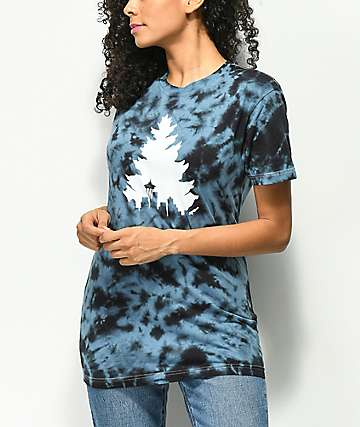 Casual Industrees Johnny Tree Blue Tie Dye T-Shirt