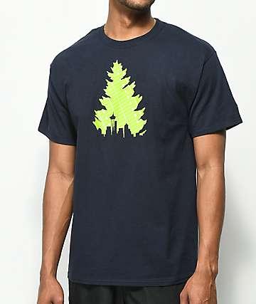Casual Industrees Johnny Tree Football Navy T-Shirt