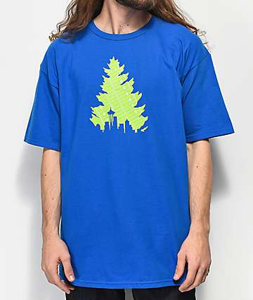 Casual Industrees Johnny Tree Football Royal Blue T-Shirt
