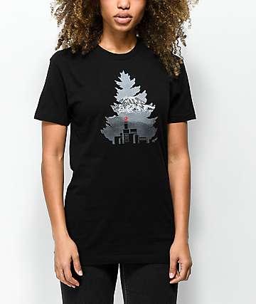 Casual Industrees Johnny Tree Rainier camiseta negra