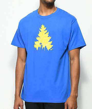 Casual Industrees Johnny Tree camiseta azul de béisbol