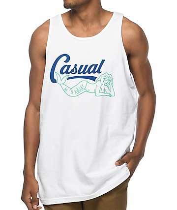 Casual Industrees Mermaid Script White Tank Top
