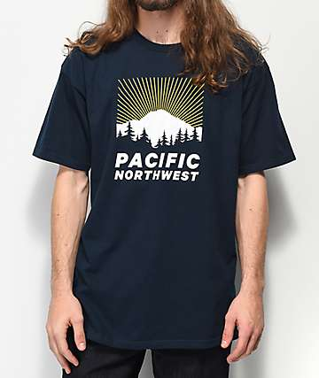 Casual Industrees Mt. Rainier Rays Navy T-Shirt
