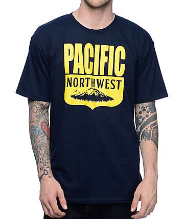 Casual Industrees NW PNW Shield Navy T-Shirt