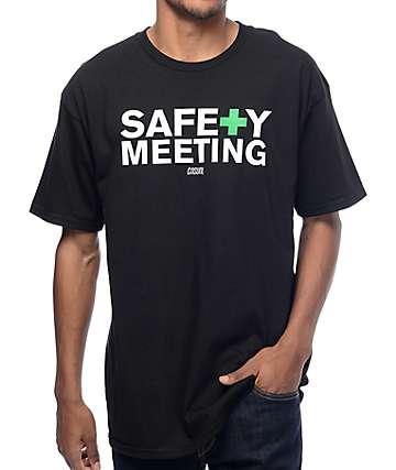 Casual Industrees NW Safety Meeting camiseta negra