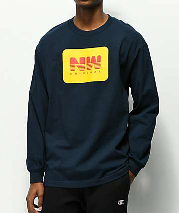 Casual Industrees Northwest Original Navy Long Sleeve T-Shirt