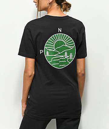 Casual Industrees PNW Explorer Black & Green T-Shirt