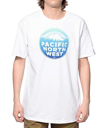 Casual Industrees PNW Fade White T-Shirt
