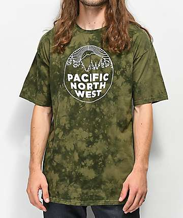 Casual Industrees PNW Green Tie Dye T-Shirt