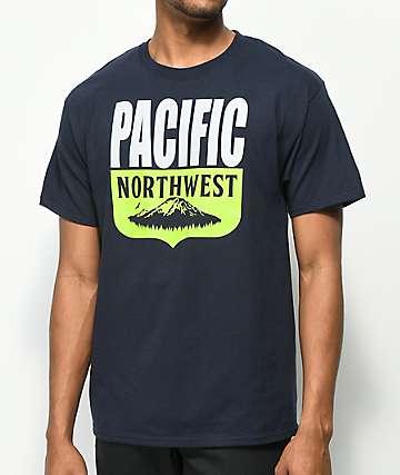 Casual Industrees PNW Shield camiseta en azul marino
