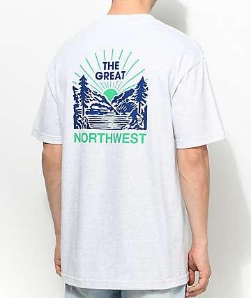 Casual Industrees PNW Squatch Valley 2 camiseta en color carbón