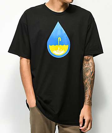 Casual Industrees Raindrop Black T-Shirt