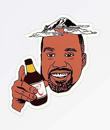 Casual Industrees Ranye West Sticker