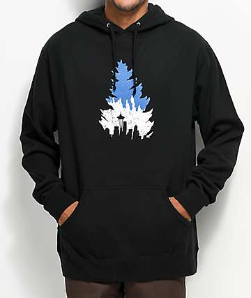 Casual Industrees SEA Johnny Tree Line Black Hoodie