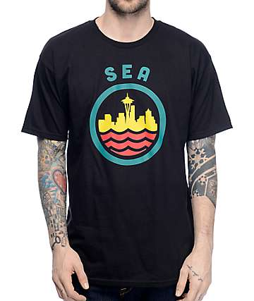 Casual Industrees SEA Seatown Classic Black T-Shirt