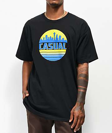 Casual Industrees SEA Skyline Black T-Shirt