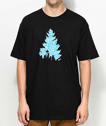 Casual Industrees Sea Johnny Tree Pool Black T-Shirts