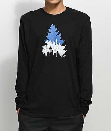Casual Industrees Sea Johnny Tree camiseta negra de manga larga