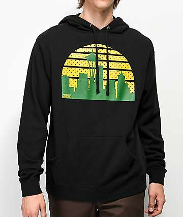 Casual Industrees Seattle Skyline sudadera negra con capucha