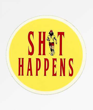 Casual Industrees Shit Happens Sticker