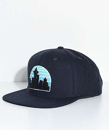 Casual Industrees Skyline Navy Snapback Hat