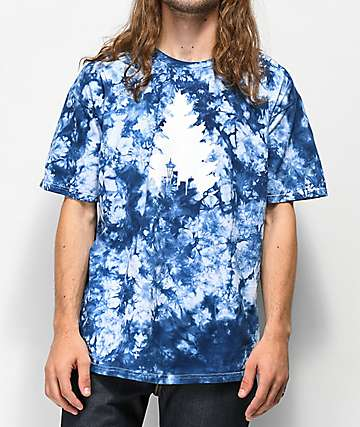 Casual Industrees Tree Navy Tie Dye T-Shirt