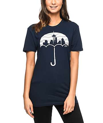 Casual Industrees Umbrella Wavy Navy T-Shirt