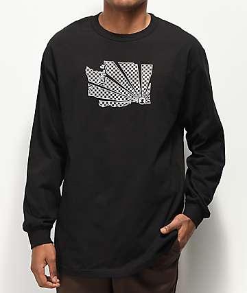 Casual Industrees WA Brah Check Black Long Sleeve T-Shirt