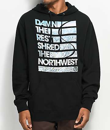 Casual Industrees WA Damn The Rest Black Hoodie