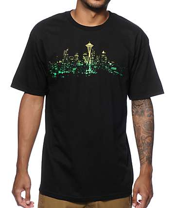 Casual Industrees WA Seattle Lights camiseta