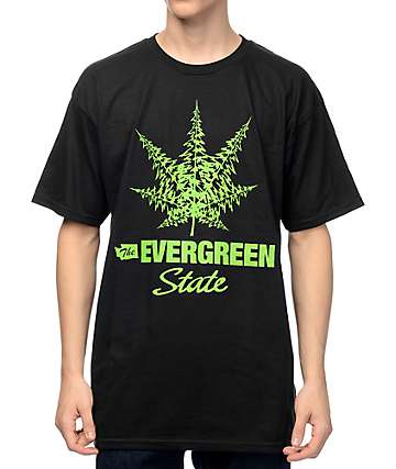 Casual Industrees WA The Evergreen State Black T-Shirt