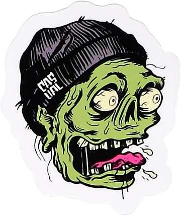 Casual Industrees pegatina zombi