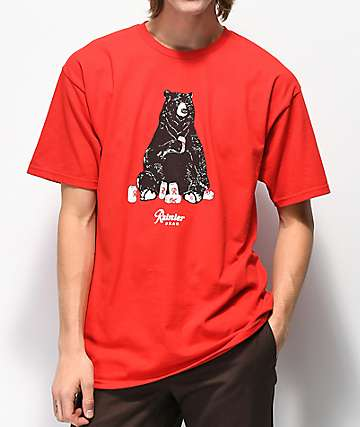 Casual Industrees x Rainier Bear Red T-Shirt