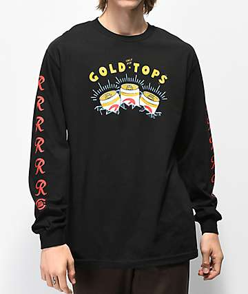 Casual Industrees x Rainier Gold Top Black Long Sleeve T-Shirt