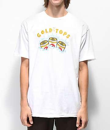 Casual Industrees x Rainier Gold Top camiseta blanca