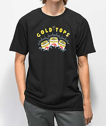 Casual Industrees x Rainier Gold Top camiseta negra