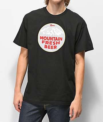 Casual Industrees x Rainier Mountain Fresh camiseta negra