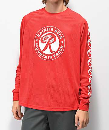 Casual Industrees x Rainier Red Long Sleeve Jersey