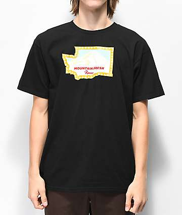 Casual Industrees x Rainier Washington Fresh camiseta negra