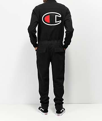 Champion 2.0 Black Fleece Coverall Jumpsuit