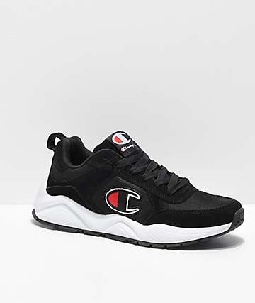 Champion 93 Eighteen Big C Classic Black & White Men's Shoes