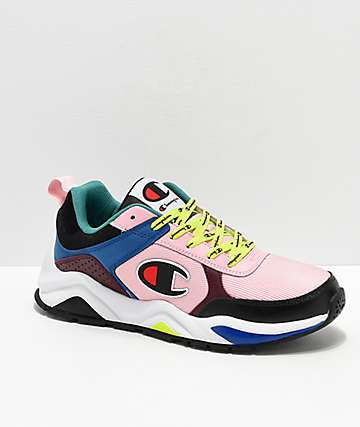 495d2ee7a6fe3 Champion 93 Eighteen Big C Pink   Multi-Colorblock Shoes