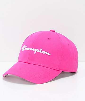 Champion Amaranth gorra strapback de tela asargada