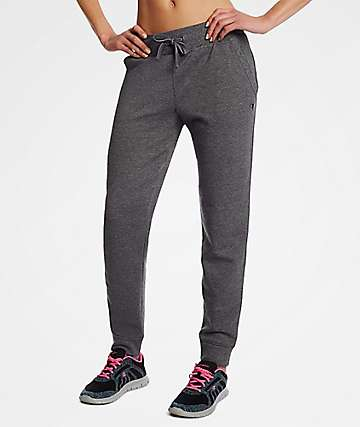 Champion Applique Black Fleece Jogger Sweatpants