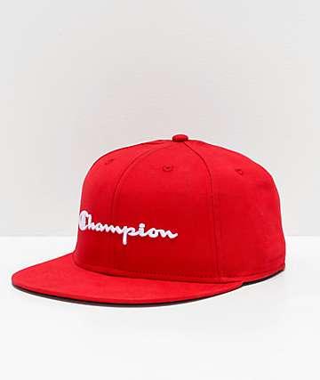los angeles 6a859 a0f5f Champion BB Script Scarlet Snapback Hat