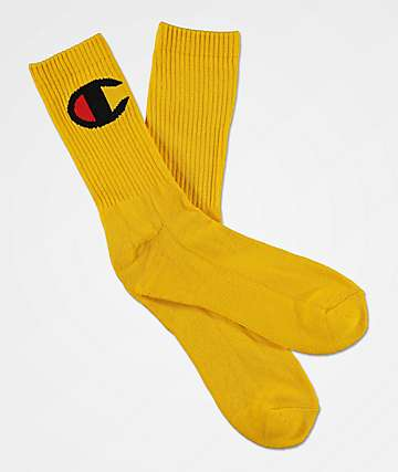 Champion Big C Team Gold Crew Socks