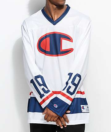 Champion Big C White Hockey Jersey