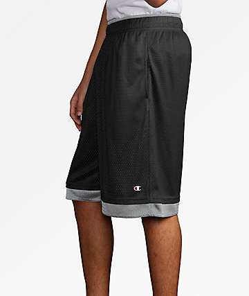 Champion Black & Grey Reversible Mesh Shorts